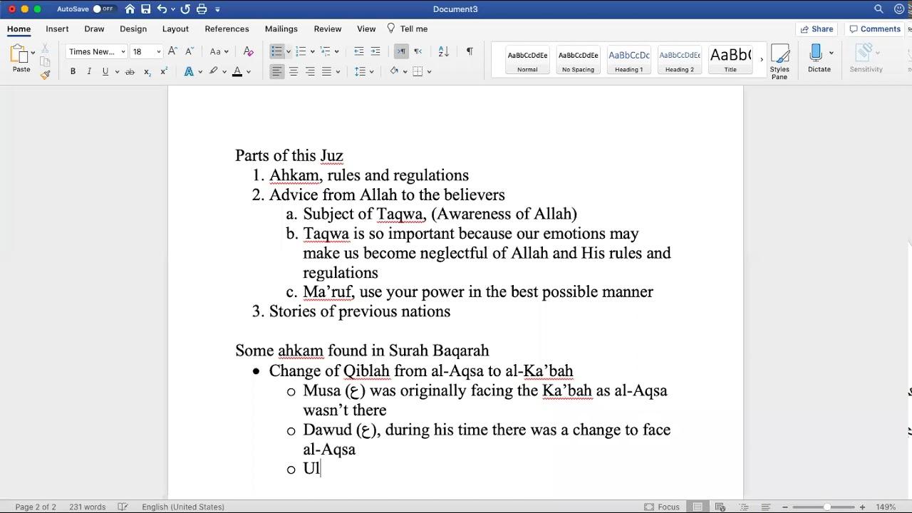 Sh. Zubair || Quranic Overview (Juz 2)