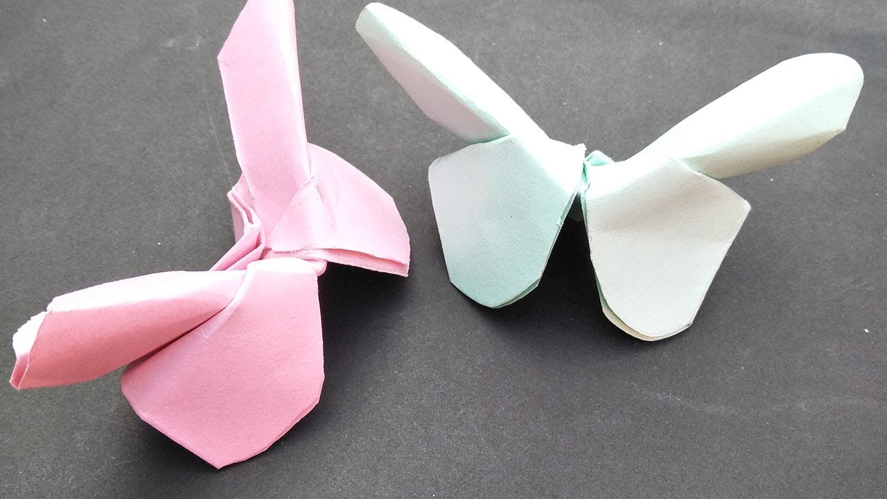 How to make a butterfly with color paper. - YouTube