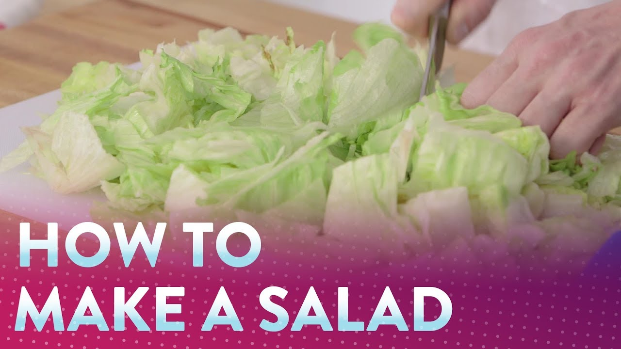 How To Make Lettuce Salad Food Com Youtube