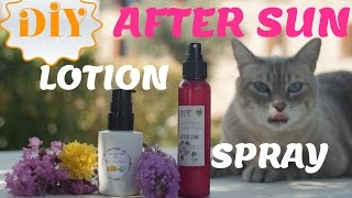 DIY After Sun Spray & Lotion: Soothing, Moisturizing & Silky on your Skin Thumbnail
