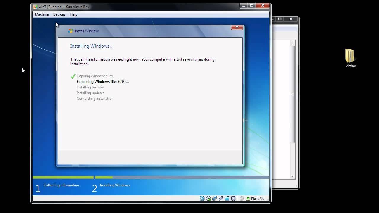 Virtualbox Windows 7 Image