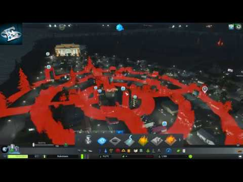 Meteor strikes a nucler power plant! Cities: Skylines