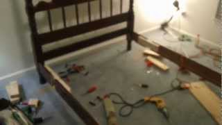 Antique Bed Frame - Double To Queen Modification 2 Of 5