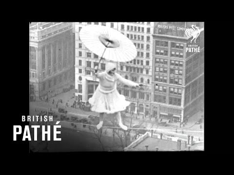 Lady dancing above New York, 300ft high in 1931