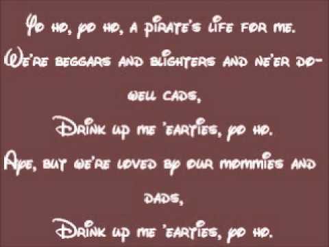 Pirates Of The Caribbean-Yo Ho! (A Pirate's Life For Me) Lyrics
