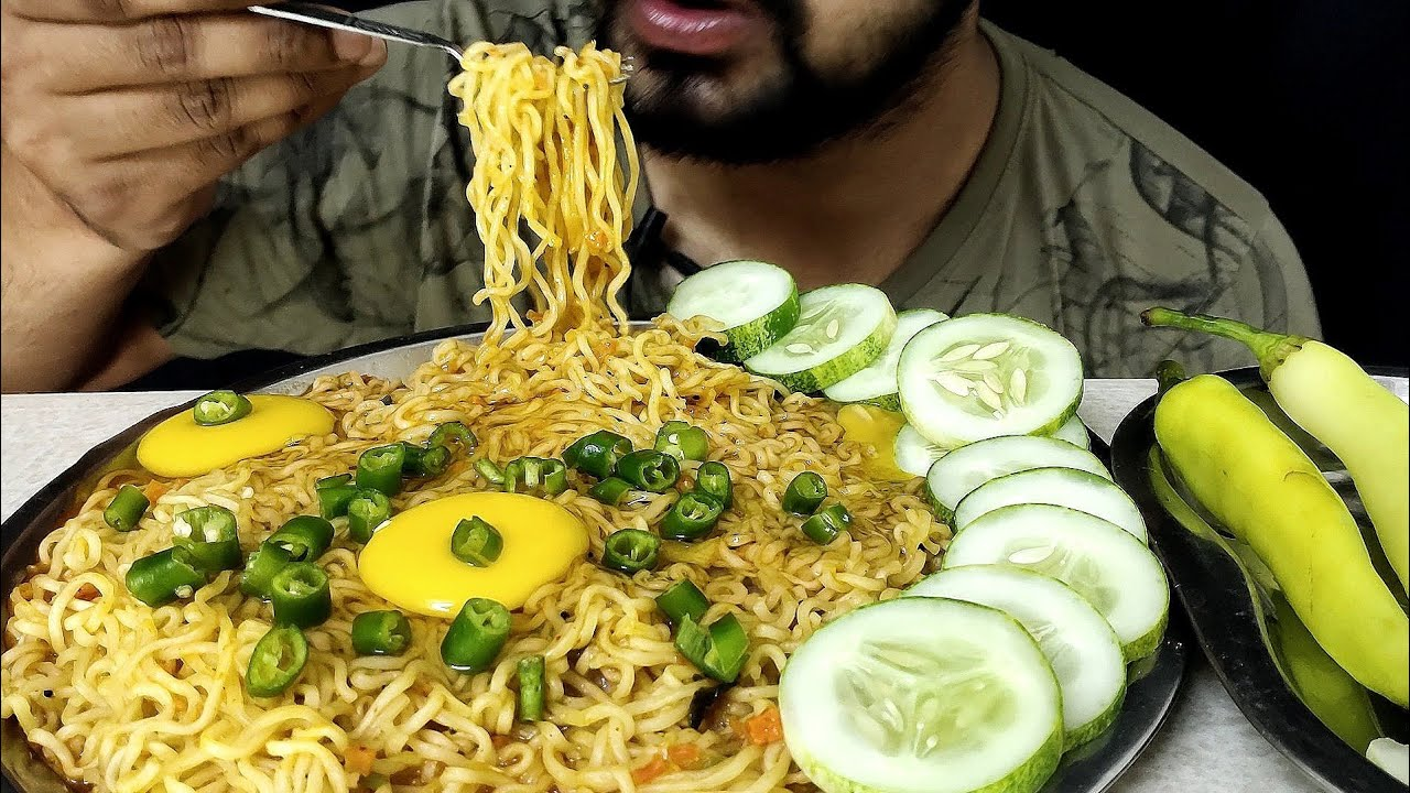 Raw Egg NOODLES With Chillie Eating | Rtr Asmr | Indian Mukbang show