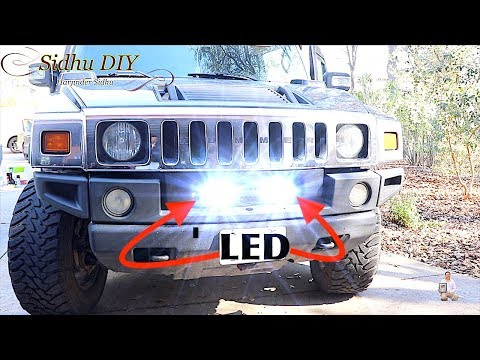 How To Install 7 inch LED Bar on HUMMER