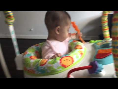 NEW!! Fisher Price Space Saver Jumperoo Review I Rebecca Hollick