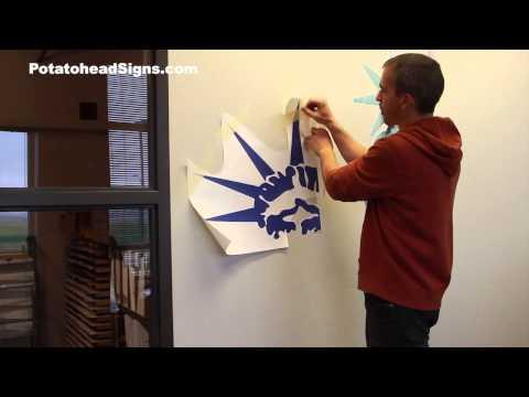 Liberty Wall Graphic Logos