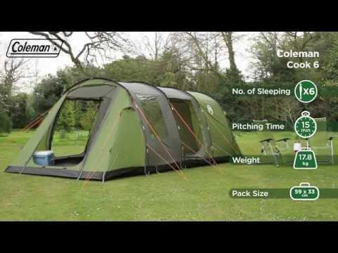 Cook 6 deluxe telt fra Coleman til billig online pris