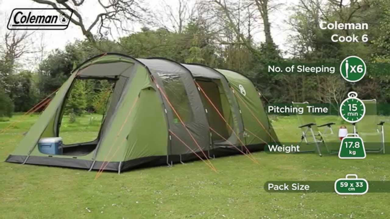 & Coleman® Cook 6 - Six person Family Camping Tent - EN - YouTube