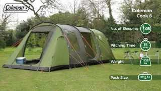 Coleman® Cook 6 - Six person Family Camping Tent - EN