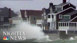 Powerful Nor'Easter Slams East Coast With High Winds, Flooding | NBC Nightly News