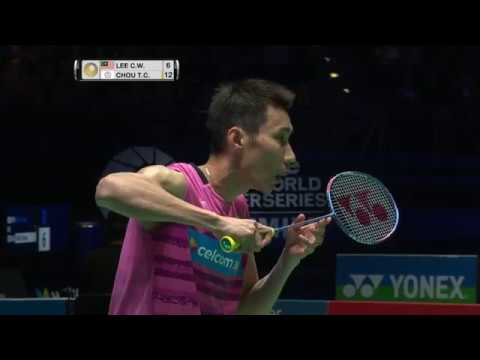 Yonex All England Open 2017 | Badminton SF M2-MS | Lee Chong Wei vs Chou Tien Chen