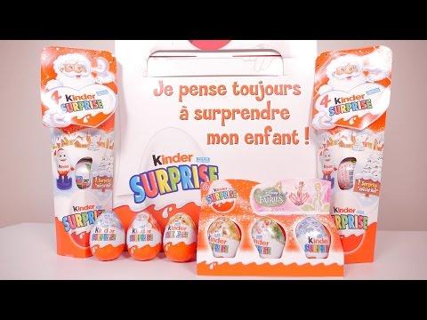 [OEUF] Liquidation du stock de Kinder de Noël - Unboxing 19 Kinder eggs Christmas edition