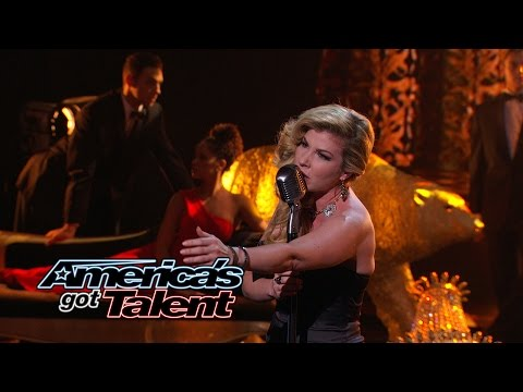 """Emily West: Singer Shines With """"Nights In White Satin"""" Cover - America's Got Talent 2014"""