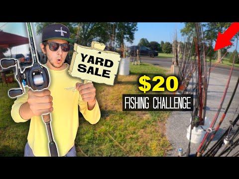 $20 Yard Sale Fishing Challenge!! (Surprising!)