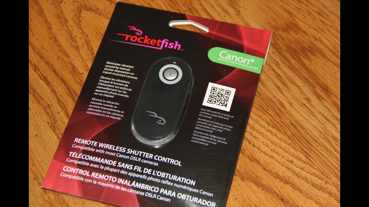 Rocketfish Remote Wireless Shutter Control Canon Dslr