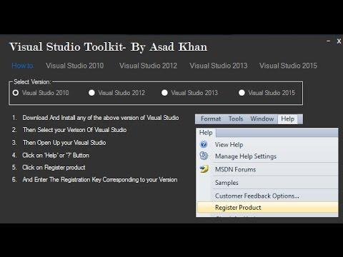 Free Download Visual Studio Serial key Toolkit