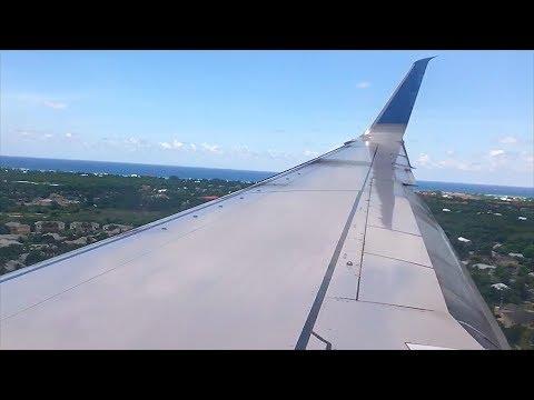 United 737-800 | CROSSWIND Landing at Owen Roberts Intl' Airport