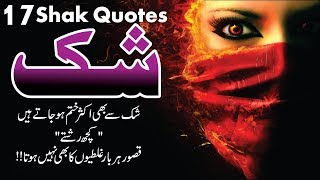 Shak Best 17 Quotes in Hindi Urdu with images and voice || 17 aqwal e zareen about shak