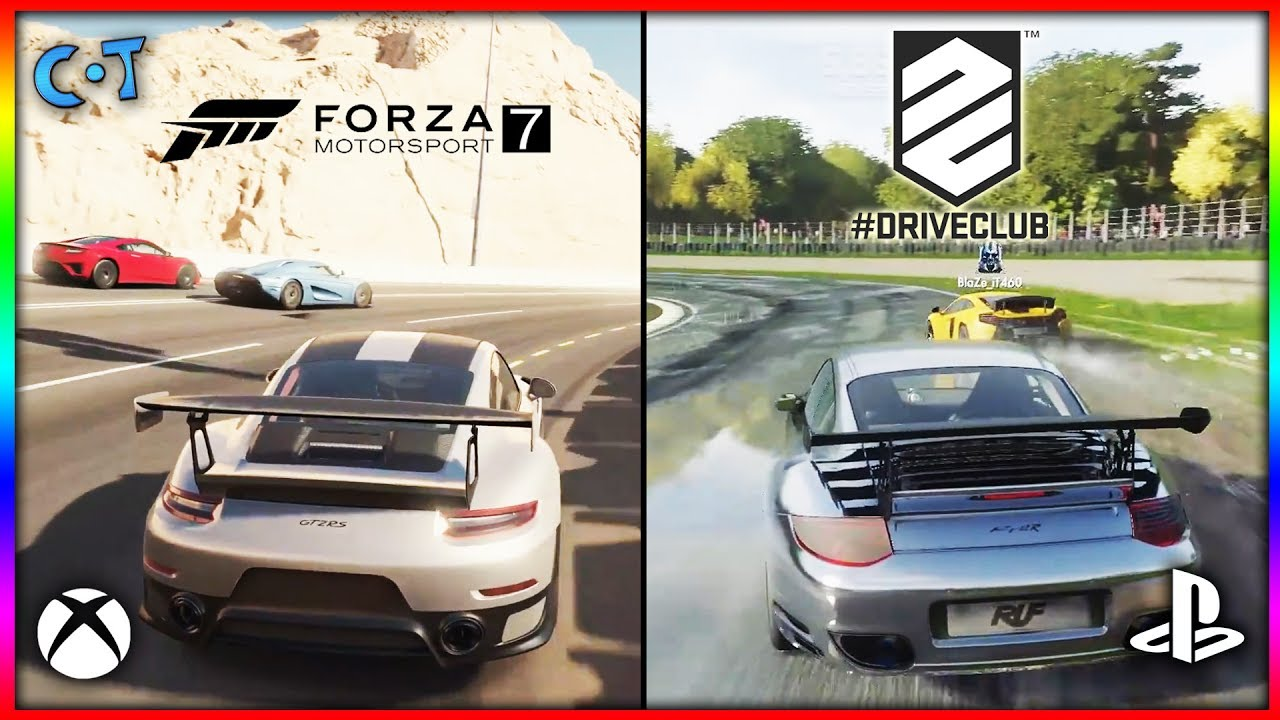 forza motorsport 7 vs driveclub xbox one x vs ps4 pro. Black Bedroom Furniture Sets. Home Design Ideas