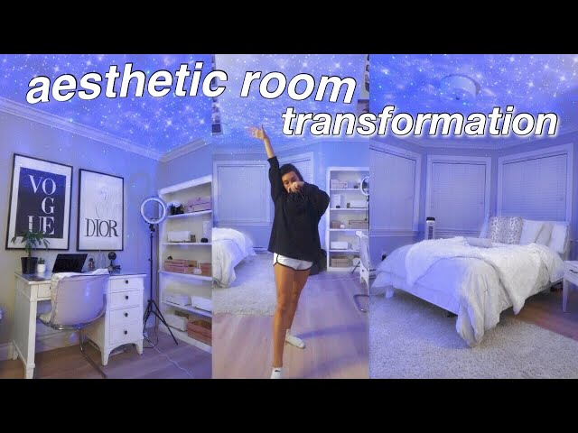 aesthetic bedroom transformation!! pinterest/tiktok inspired room decor