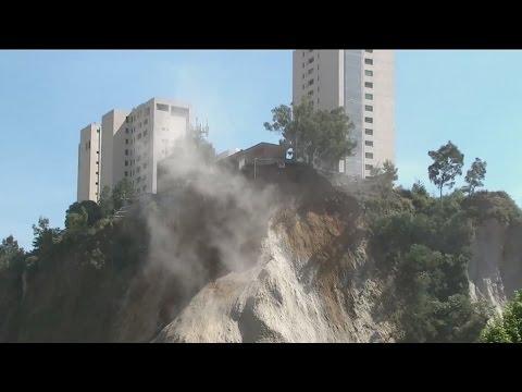 Derrumbes podrían terminar con exclusivo vecindario en la Ciudad de México