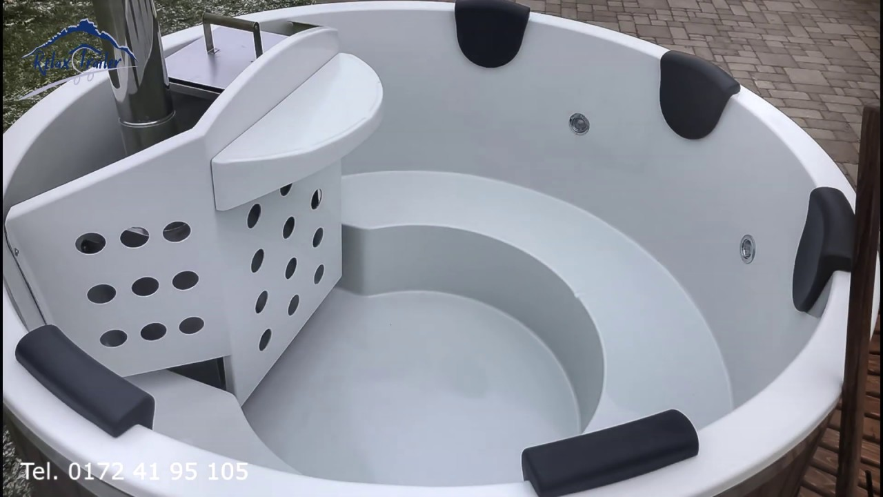 Badefass Mit Holzofen Whirlpool Youtube