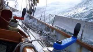 Sailing a Bristol Pilot Cutter Annabel J in Rough Water
