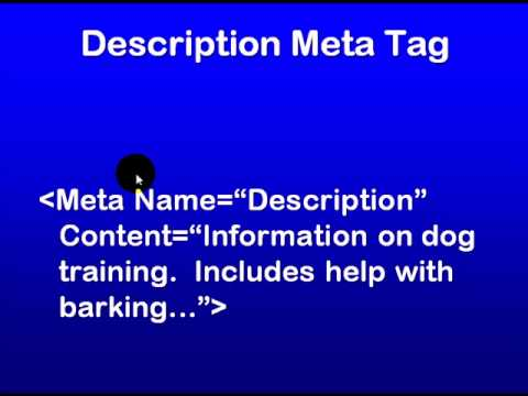 SEO Education 101 Understanding Meta Tags