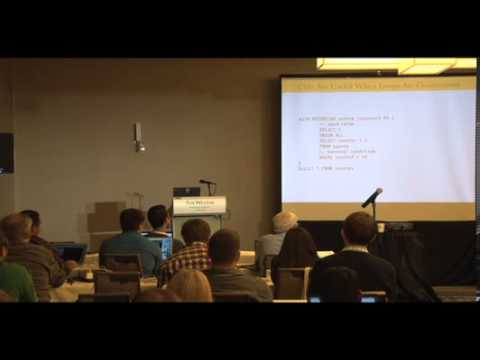 Bruce Momjian: Programming the SQL Way with Common Table Expressions