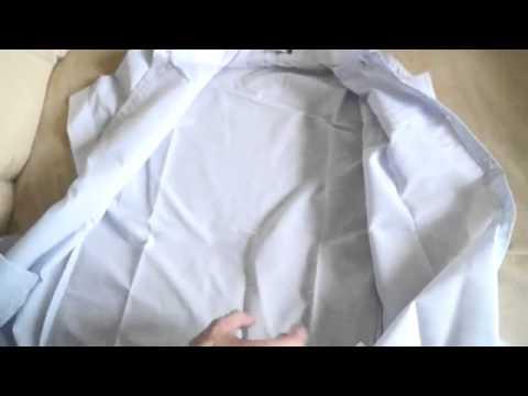 Мужская рубашка с коротким рукавом голубого цвета