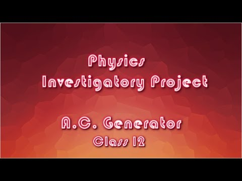 For ac class pdf 12 generator project
