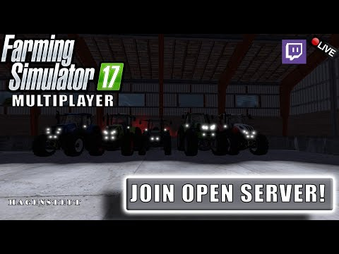 "{NL} ""JOIN OPEN SERVER!"" FarmingSimulator 17 Multiplayer Hagenstedt {G29} YT/TWITCH"