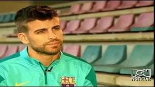 Gerard Piqué habla de Shakira en RCN