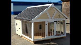 Фото Утепленный вольер для собаки в виде домика Винстон Усадьба Мастеров
