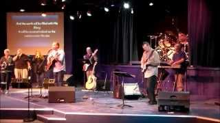 Playing a Fender Mustang 3 V2 guitar amp live in Worship service