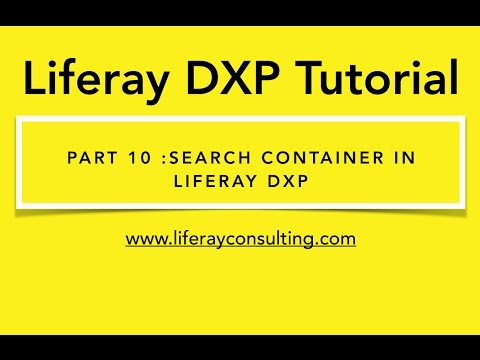 Liferay Workshop 10 : How use Search-container in Liferay 7/ Liferay DXP