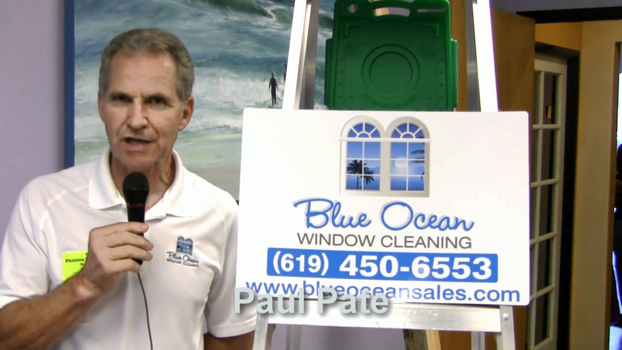Paul Pate Of Blue Ocean Window Cleaning Itex Friends In Business Networking Trade Show