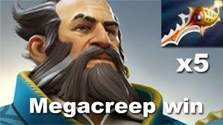 Kunkka 5 Rapiers Win vs Megacreeps Nexus Pisyha Dota 2