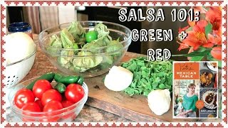Mexican Salsa 101: Verde & Rojo (green + Red) ~ Paleo + Whole 30 Friendly!