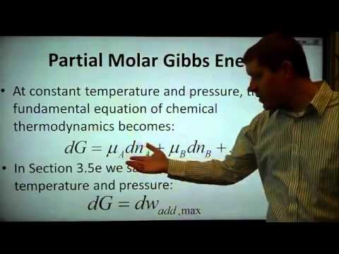 CH401 5.1 Partial Molar Quantities
