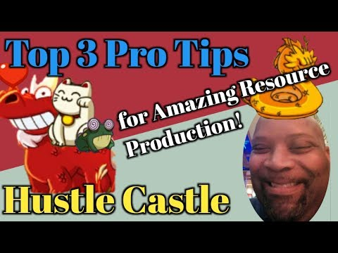 Hustle Castle - Top 3 Pro Tips To Amazing Resource Production! | Quick Tutor Series | Book 5 Chp 41