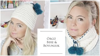 Whether you want to be a beanie or a scarf / the easiest knitting patterns