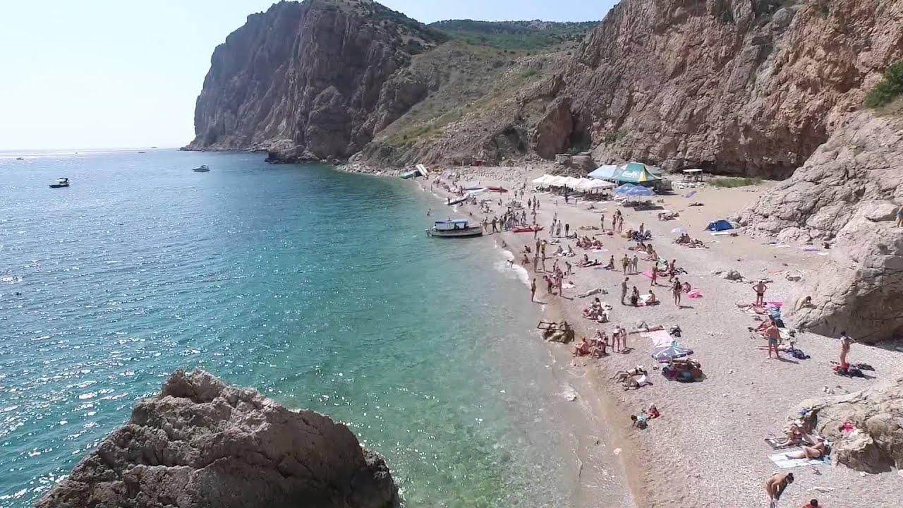 Крым Севастополь Пляж Васили - YouTube