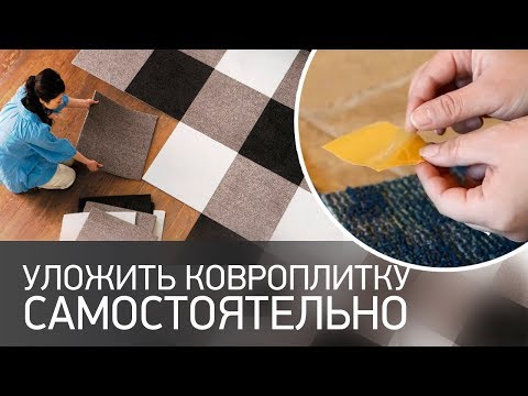 Как уложить ковровую плитку домашними инструментами самостоятельно?