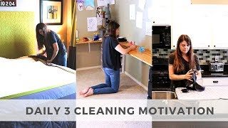 DAILY 3 CLEANING ROUTINE // SPEED CLEANING ROUTINE // CLEAN WITH ME