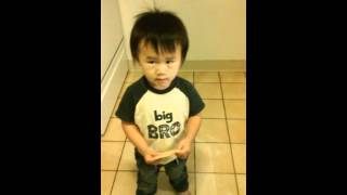 21 month old boy talking