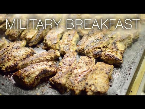 Military Breakfast – Culinary Specialists Cook Up Meals Insi